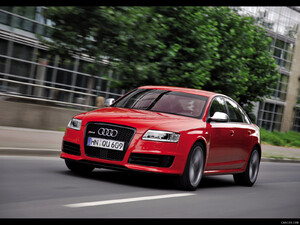 2009 Audi RS6 Sedan Red - Front - Picture # 1