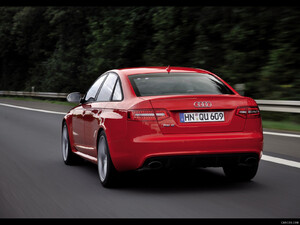2009 Audi RS6 Sedan Red - Rear - Picture # 2