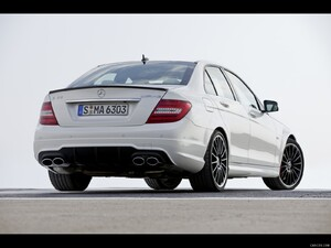 Mercedes-Benz C63 AMG (2012)  - Rear Angle  - Picture # 8