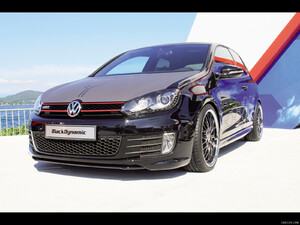2012 VW Golf GTI Black Dynamic  - Front - Picture # 1