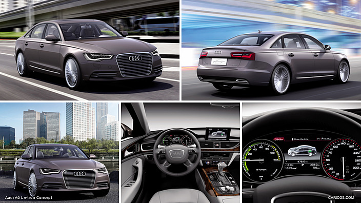 2012 audi a6 l e tron concept. Black Bedroom Furniture Sets. Home Design Ideas