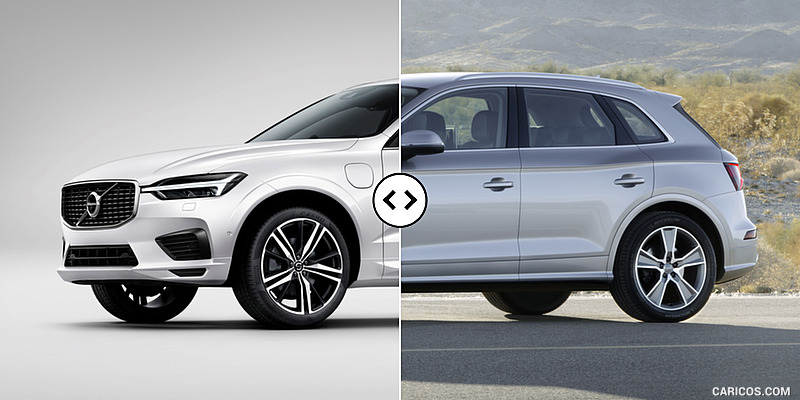 2018 volvo electric car.  electric 2018 volvo xc60 vs audi q5  front three quarter and volvo electric car