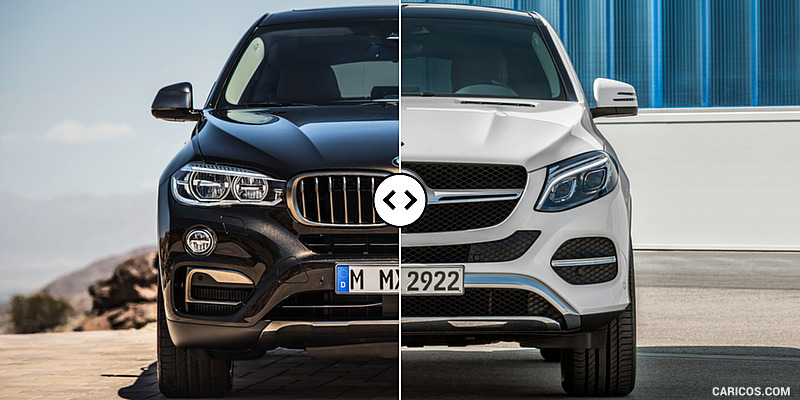 Bmw X6 Vs Mercedes Gle Coupe Front Comparison 1