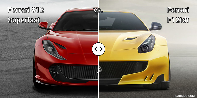 2018 ferrari 812 superfast specs. wonderful 2018 ferrari 812 superfast vs f12tdf  front in 2018 ferrari superfast specs