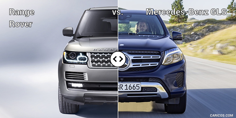 Range rover vs mercedes benz gls front comparison 1 for Mercedes benz rover