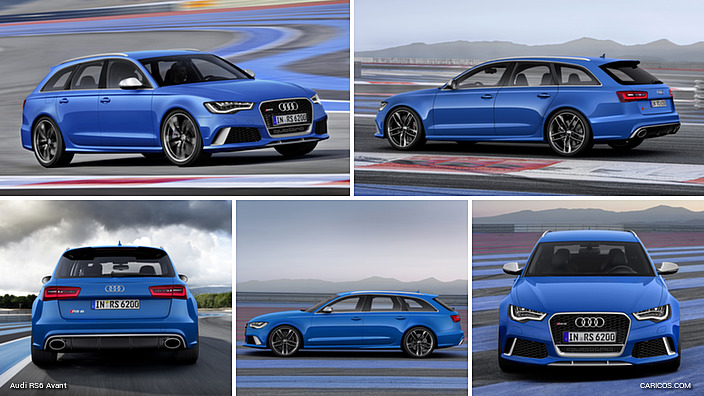 Audi RS6 Avant Estoril Blue Crystal Effect