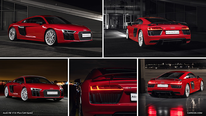 Audi R8 V10 Plus Coupe, Red, Exterior