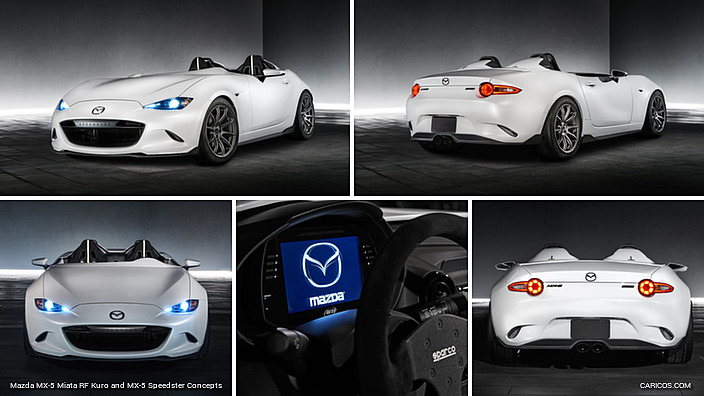 2016 Mazda MX-5 Miata RF Kuro and MX-5 Speedster Concepts | Caricos.com