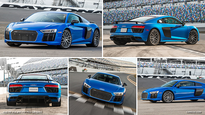 2017 Audi R8 V10 Plus (US-Spec, Blue)
