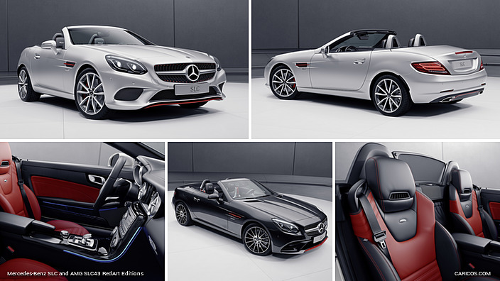 2017 Mercedes Benz Slc And Amg Slc43 Redart Editions