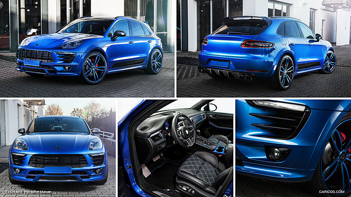 2017 TECHART Porsche Macan Blue