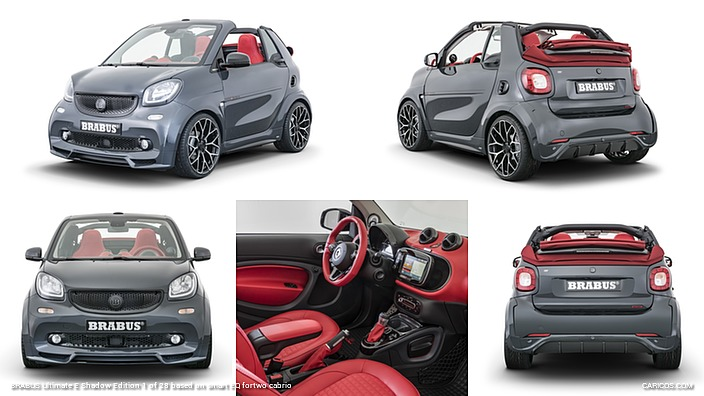 BRABUS Ultimate E Shadow Edition 1 of 28 based on smart EQ fortwo cabrio
