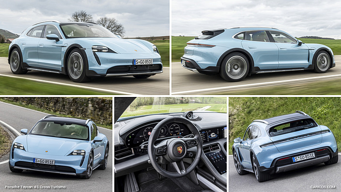 2021 Porsche Taycan 4 and 4S Cross Turismo