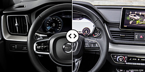 2018 Volvo XC60 vs. 2018 Audi Q5 Digital Instrument Cluster and Steering Wheel