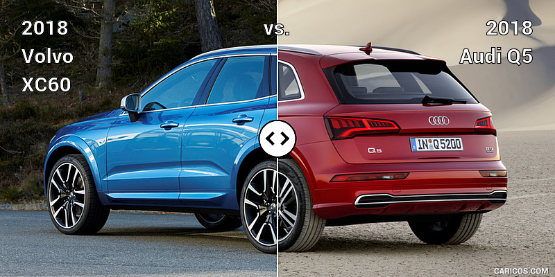 2018 Volvo XC60 vs. 2018 Audi Q5 : Rear Three Quarter