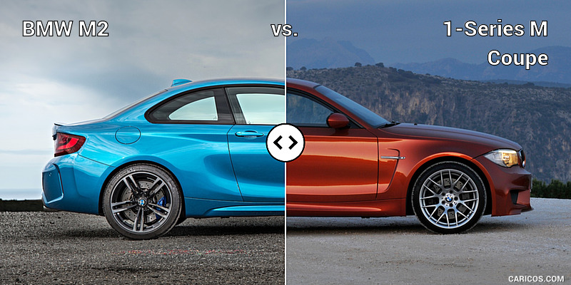 BMW M2 vs. 1-Series M Coupe : Side
