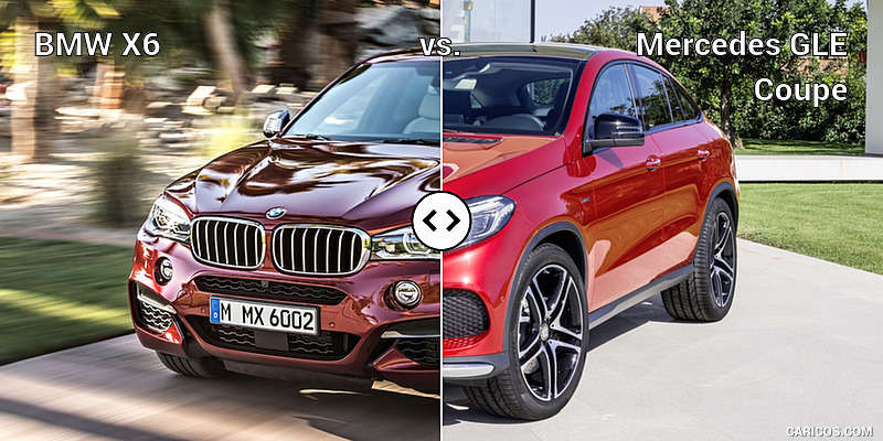 BMW X6 vs. Mercedes GLE Coupe : Front Three-Quarter