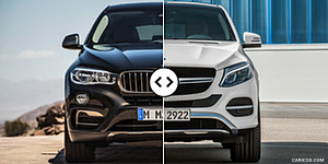BMW X6 vs. Mercedes GLE Coupe : Front