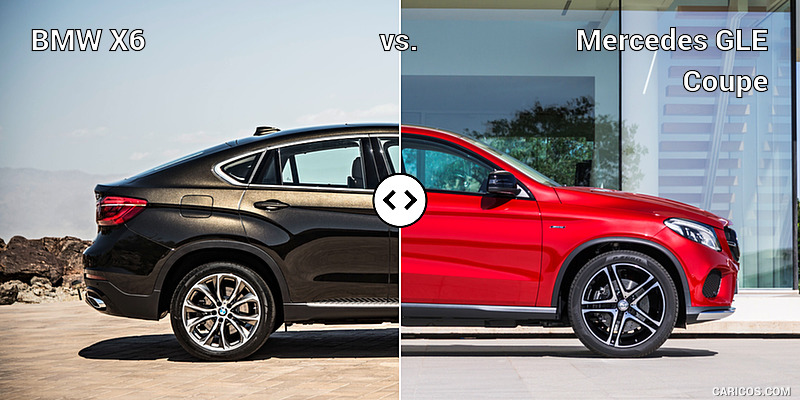 BMW X6 vs. Mercedes GLE Coupe : Side
