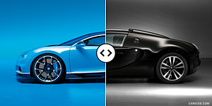 Bugatti Chiron vs. Veyron GS Vitesse : Side