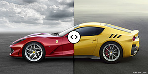 Ferrari 812 Superfast vs. Ferrari F12tdf