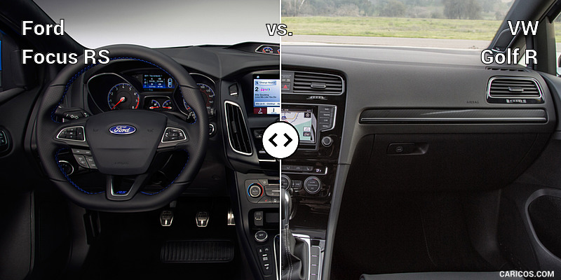Ford Focus RS vs. VW Golf R : Interior, Cockpit