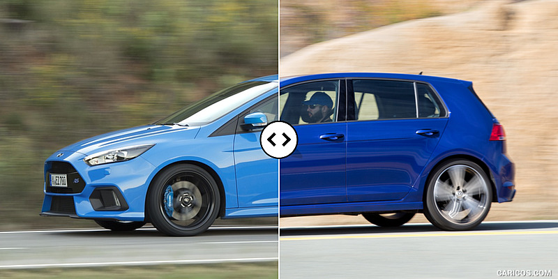 Ford Focus RS vs. VW Golf R : Side