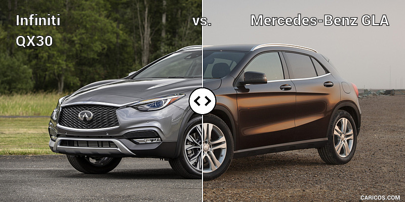 Infiniti QX30 vs. Mercedes-Benz GLA : Front Three Quarter