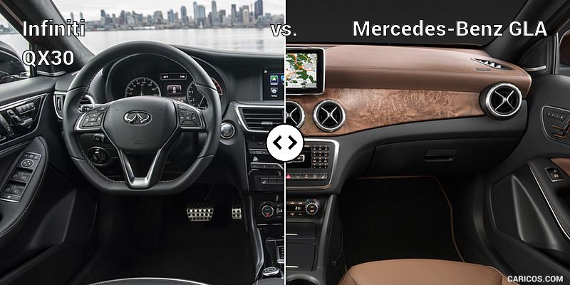 Infiniti QX30 vs. Mercedes-Benz GLA : Interior, Cockpit