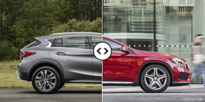 Infiniti QX30 vs. Mercedes-Benz GLA : Side