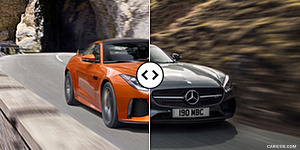 Jaguar F-TYPE SVR Coupe vs. Mercedes-AMG GT S : Front Three Quarter