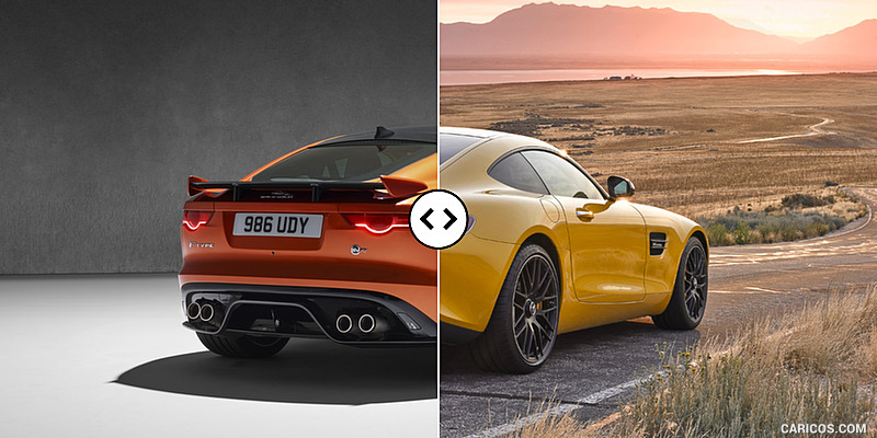 Jaguar F-TYPE SVR Coupe vs. Mercedes-AMG GT S : Rear Three Quarter
