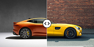 Jaguar F-TYPE SVR Coupe vs. Mercedes-AMG GT S : Side