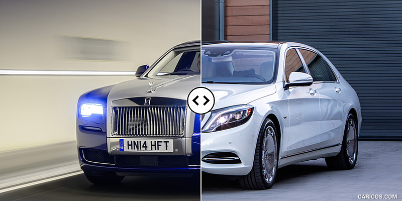Rolls-Royce Ghost II Extended vs. Mercedes-Maybach S600 : Front Three Quarter
