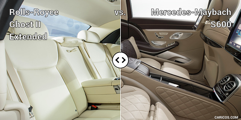 Rolls-Royce Ghost II Extended vs. Mercedes-Maybach S600 : Interior, Rear Seats