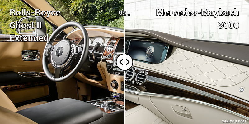 Rolls-Royce Ghost II Extended vs. Mercedes-Maybach S600 : Interior