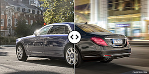 Rolls-Royce Ghost II Extended vs. Mercedes-Maybach S600 : Rear Three Quarter