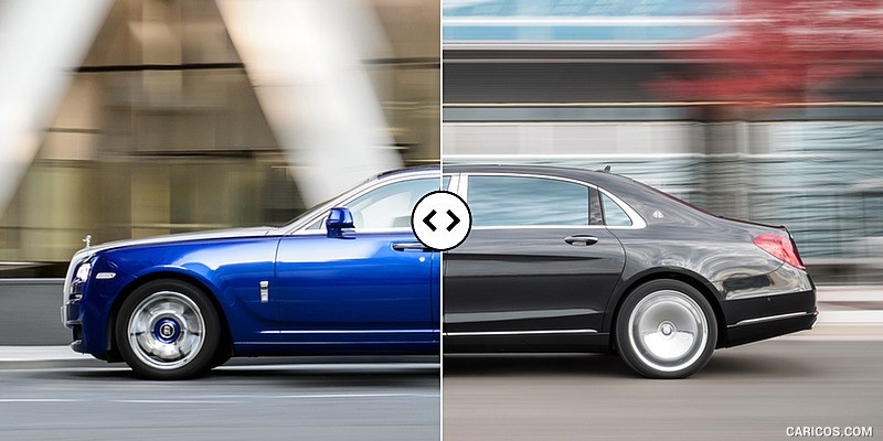 Rolls-Royce Ghost II Extended vs. Mercedes-Maybach S600 : Side