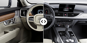 Volvo S90 vs. Audi A6 : Interior, Cockpit