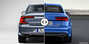 Volvo S90 vs. Audi A6 Rear