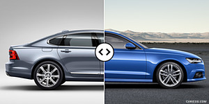 Volvo S90 vs. Audi A6 : Side