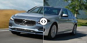 Volvo S90 vs. BMW 5-Series Front Three-Quarter