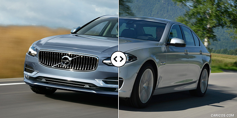 Volvo S90 vs. BMW 5-Series : Front Three-Quarter