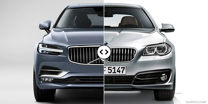 Volvo S90 vs. BMW 5-Series : Front