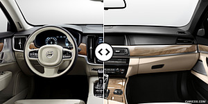 Volvo S90 vs. BMW 5-Series Interior, Cockpit