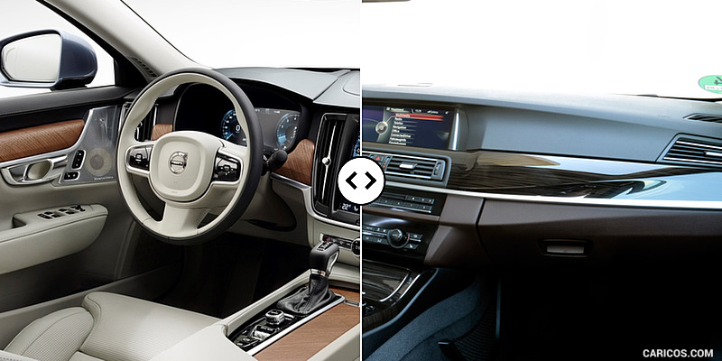 Volvo S90 vs. BMW 5-Series : Interior
