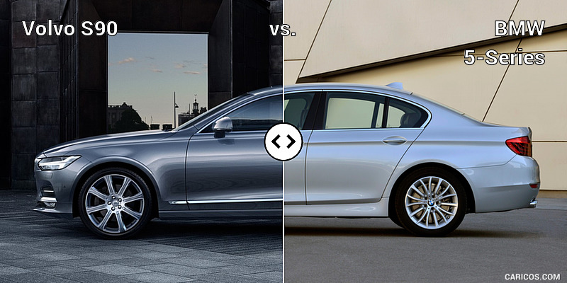 Volvo S90 vs. BMW 5-Series : Side