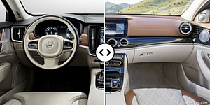 Volvo S90 vs. Mercedes E-Class Interior, Cockpit