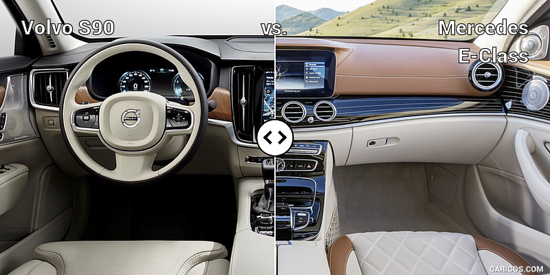 Volvo S90 vs. Mercedes E-Class : Interior, Cockpit