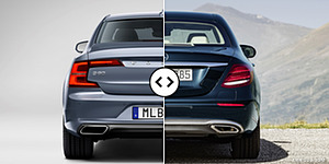 Volvo S90 vs. Mercedes E-Class Rear